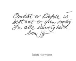 Gedicht van Toon Hermans