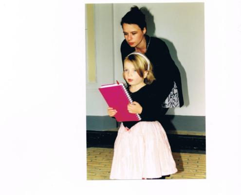 Een roze condoleance boek